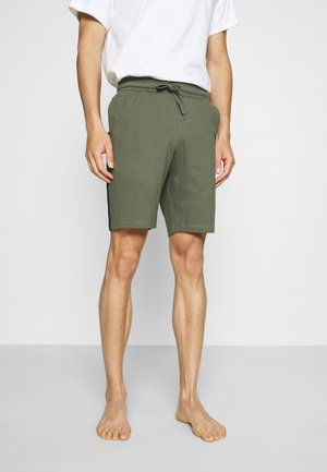 LOUNGE STRIPED SHORTS - Pyjamasbyxor - khaki/black