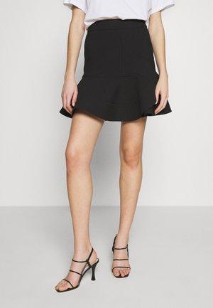 PEPLUM HEM SKIRT - A-line skirt - black