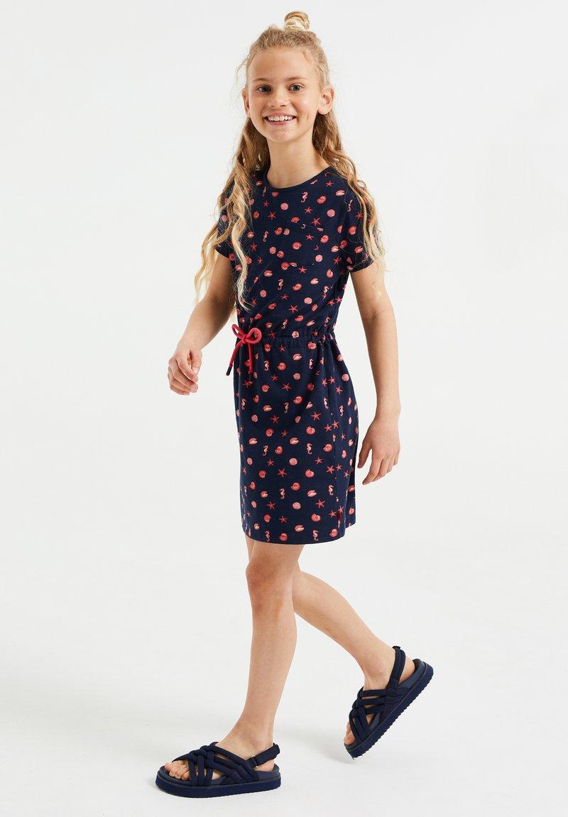 WE Fashion - MET DESSIN - Vestido ligero - blue