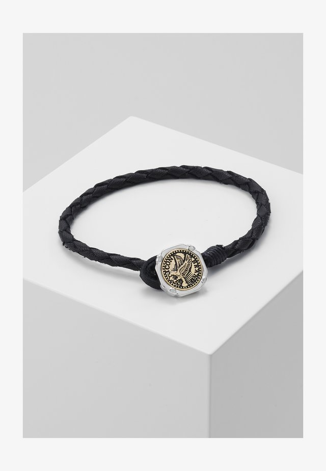 EAGLE COIN PLAITED BRACELET - Bracelet - black
