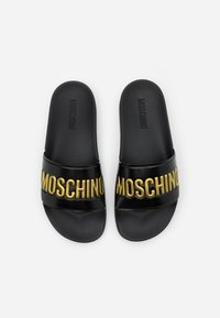 MOSCHINO - Pool slides - nero/oro