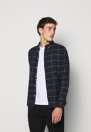 HARRISON CHECK BRUSHED - Skjorter - dark navy/light grey melange