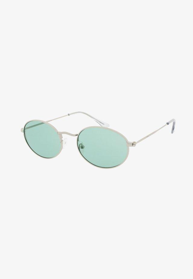 OLSEN - Okulary przeciwsłoneczne - silver/green