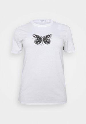 BUTTERFLY GRAPHIC  - Triko spotiskem - white