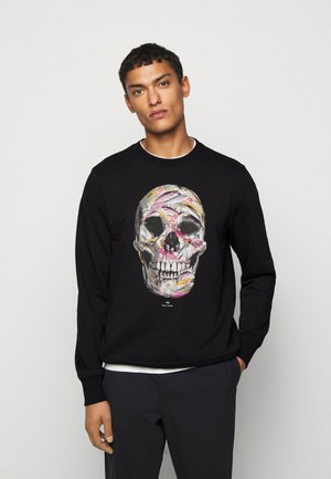 CREW SKULL PRINT - Sweater - black