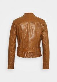 Marc Cain - Leather jacket - creme caramel - 1