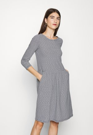BERNADETTE - Jersey dress - navy/cream