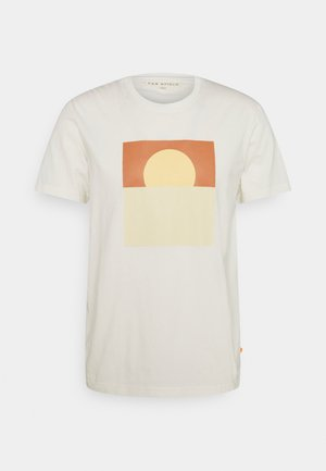 GRAPHIC SUNSET - T-shirt con stampa - white