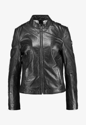 CHESSY - Kožená bunda - black