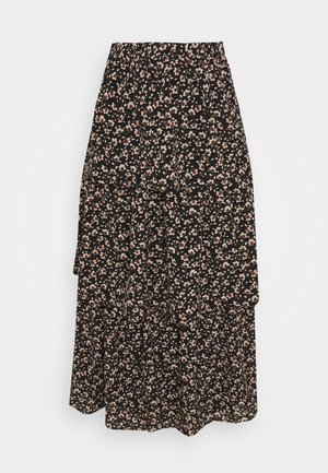 VIMAY LAYERED SKIRT - Gonna a pieghe - black