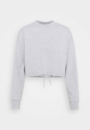 TIE HEM CROPPED SWEATSHIRT - Felpa - light grey