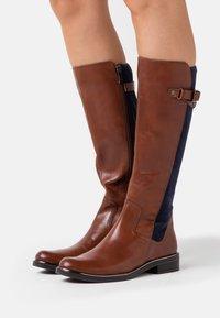 Caprice - Boots - cognac/ocean - 0