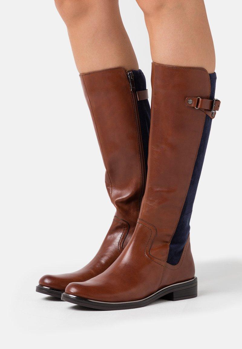 Caprice - Boots - cognac/ocean