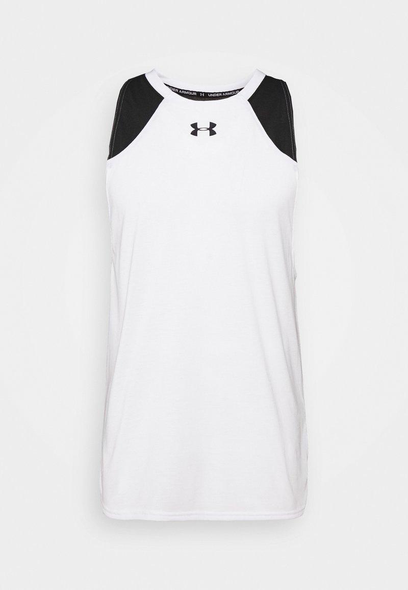 Under Armour - BASELINE PERFORMANCE TANK - Sports shirt - white/black