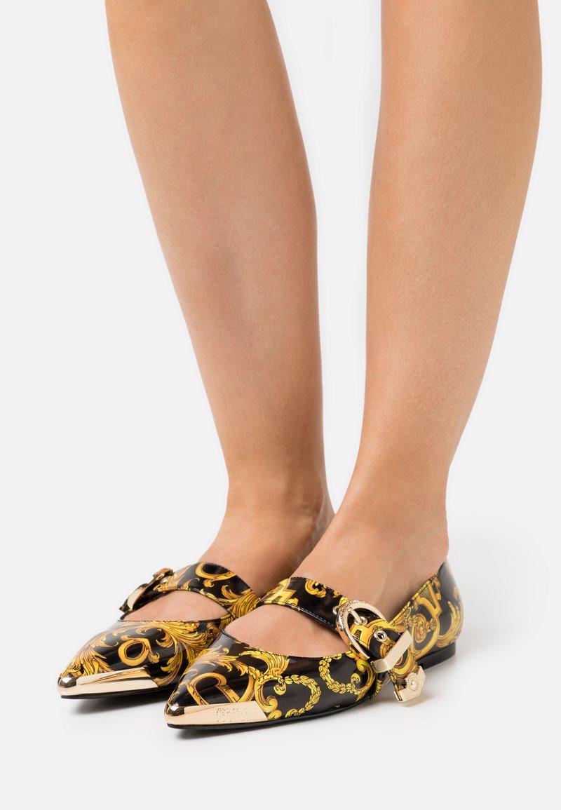 Versace Jeans Couture - Ankle strap ballet pumps - black