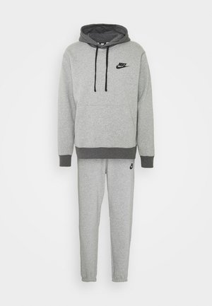 SUIT BASIC SET - Sportovní bunda - dark grey heather/charcoal heather/black