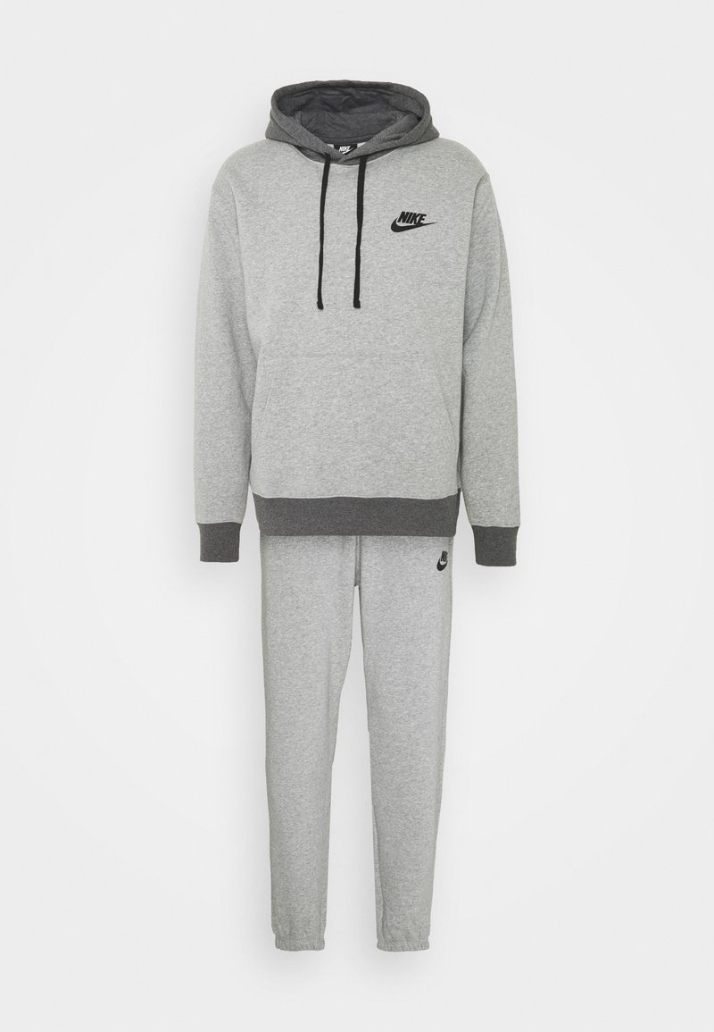 Nike Sportswear - SUIT BASIC SET - Training jacket - dark grey heather/charcoal heather/black
