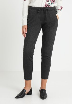 HERRINGBONE LOOSE FIT PANTS - Stoffhose - dark charcoal grey