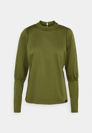 TEE WITH SPECIAL LONG SLEEVES - Long sleeved top - military green