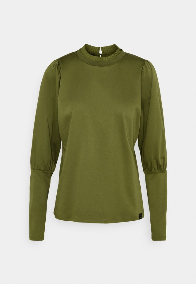 TEE WITH SPECIAL LONG SLEEVES - Camiseta de manga larga - military green