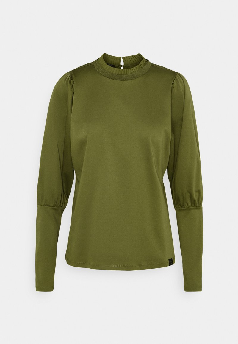 Scotch & Soda - TEE WITH SPECIAL LONG SLEEVES - Top s dlouhým rukávem - military green