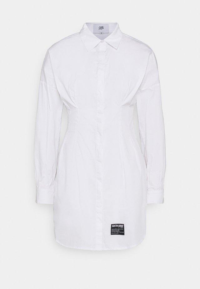 CORSET - Shirt dress - white