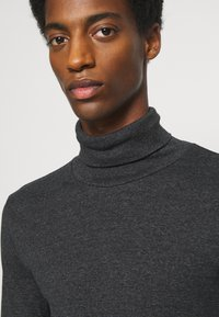 Marc O'Polo - LONG SLEEVE TURTLE NECK STRIPED - Long sleeved top - black - 3