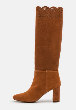 BOOT NO ZIP - Vysoká obuv - rust