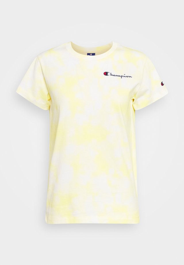CREWNECK  - T-Shirt print - white/yellow