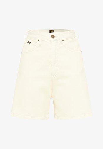 Shorts di jeans - ecru
