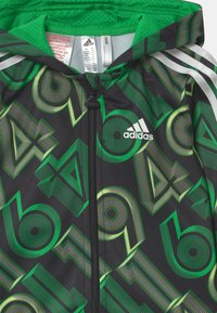 adidas Performance - SHINY SET UNISEX - Tuta - green, black - 3