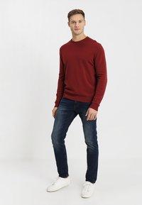 TOM TAILOR DENIM - PIERS - Slim fit jeans - dark stone wash denim - 1