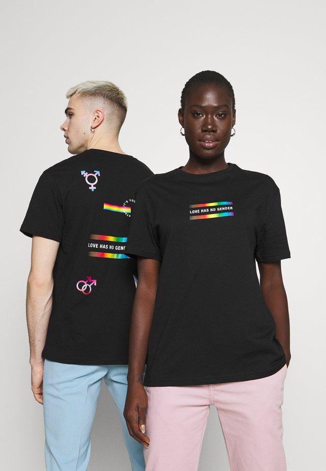 PRIDE UNISEX - Print T-shirt - black