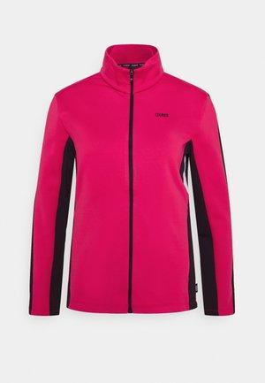 LADIES - Fleece jacket - frozen berry/black
