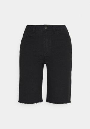 OBJMARINA NEW - Denim shorts - black