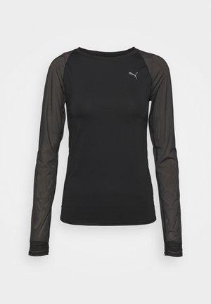 STUDIO YOGINI FITTED - Long sleeved top - black