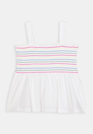 GIRL SMOCKED TANK - Camiseta estampada - new off white