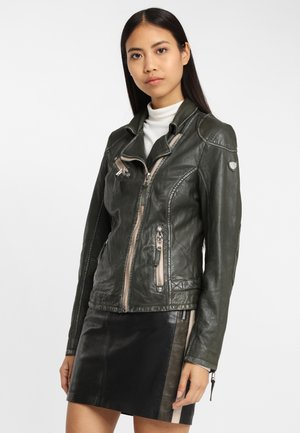 LABAGV - Leather jacket - olive
