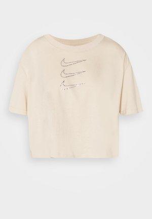 TEE CROP - T-Shirt print - oatmeal