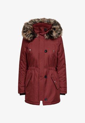 ONLIRIS - Winter coat - fired brick