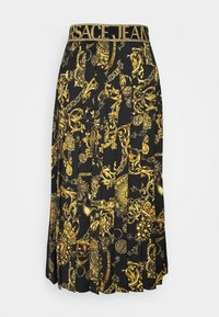Versace Jeans Couture - SKIRT - A-line skirt - black/gold - 5
