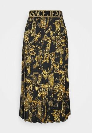 SKIRT - Áčková sukně - black/gold