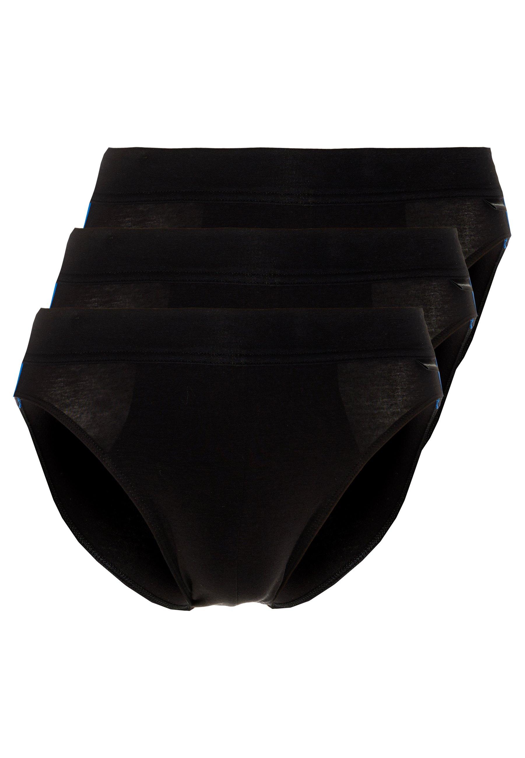 Schiesser SHORT 3 PACK - Underbukse - black