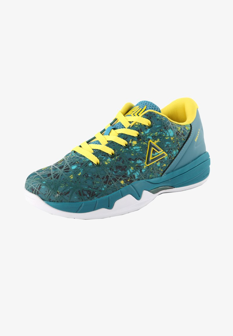 PEAK - DELLY DOWN UNDER - Sports shoes - grün-gelb