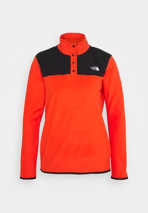 GLACIER SNAP NECK - Fleecepullover - flare/black