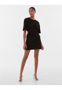 Bershka - Jersey dress - black - 1
