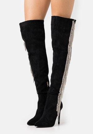 LEOMIE - Kozačky na vysokém podpatku - black