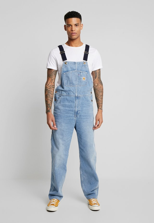 SIMPLE PANT NORCO - Jeans a sigaretta - blue worn bleached