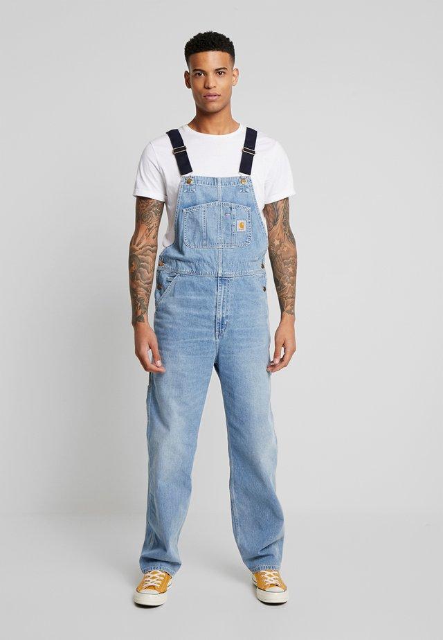 SIMPLE PANT NORCO - Straight leg -farkut - blue worn bleached