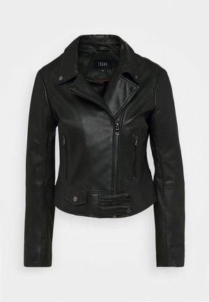 CAYA - Leather jacket - black